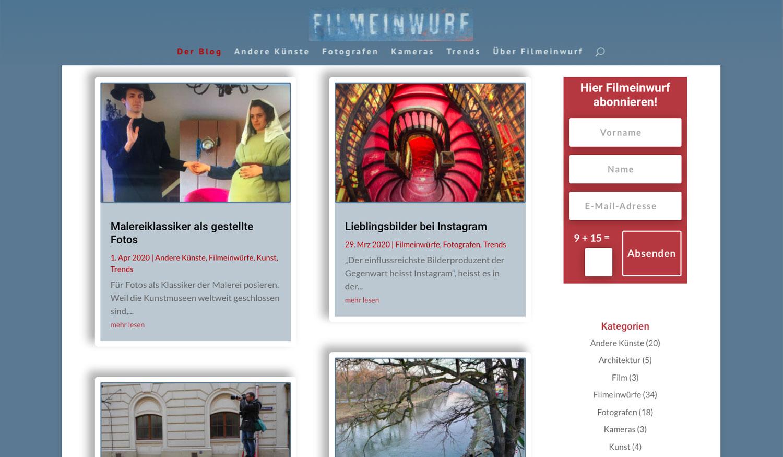 Startseite Filmeinwurf