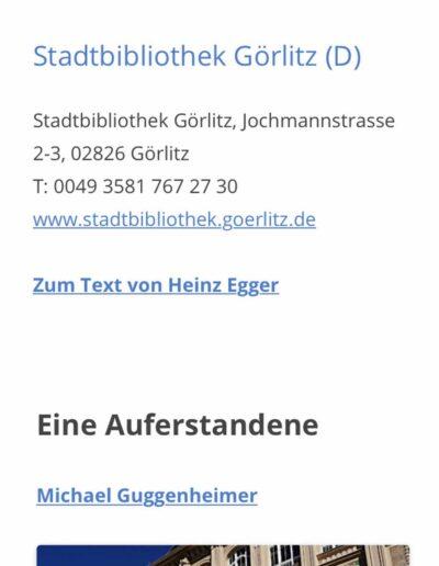 Buchort: Die mobilen Blogseiten mit den Beiträgen untereinander