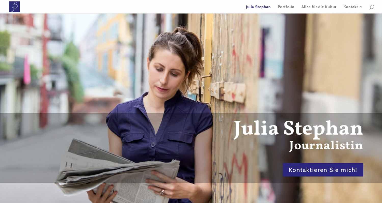 Julia Stephan: Startseite