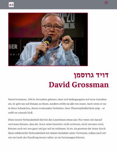Autorenseite Grossman Tablet